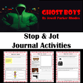 Ghost Boys Stop & Jot Journal Activities