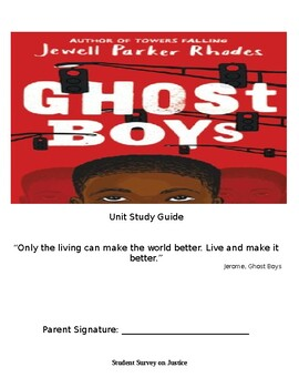 Ghost Boys Study Guide
