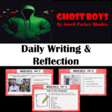 Ghost Boys Writing and Reflection Activities