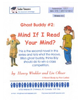 Ghost Buddy 2: Mind if I Read Your Mind: Novel Study for Grades 4-6