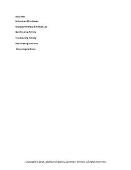 Ghost Cadet Literature and Grammar Unit