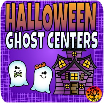 Ghost Centers Halloween Centers Brag Tags Math Literacy Shapes Emergent Reader