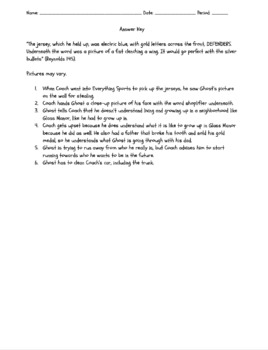 Ghost Chapter 9 Activity