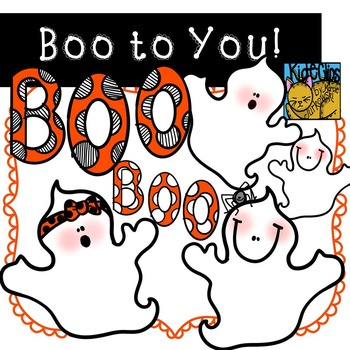 Ghost Clip Art Boo Halloween by Kid-E-Clips Commercial Personal