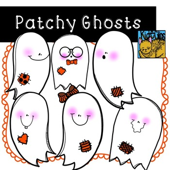 Ghost Clip Art for Fall or Halloween Theme by Kid-E-Clips Commercial Personal