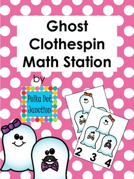 Ghost Clothespin Math Station