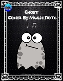 Ghost Color By Music Note Rhythm Coloring - Quarter Note, Eighth Notes