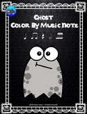 Ghost Color By Music Note Rhythm Coloring - Sixteenth Notes