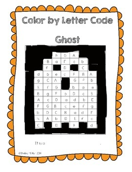 Ghost Color by Letter Code - Halloween