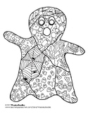 Ghost Colouring Page