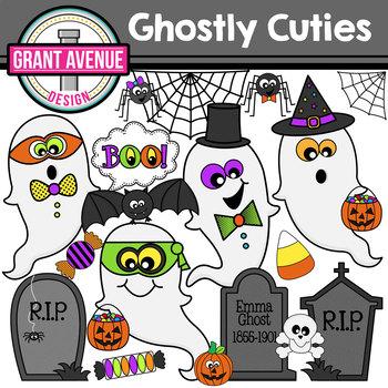 Ghost Cuties Halloween Clipart