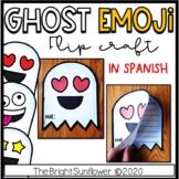 Ghost Emoji Flip Craft in Spanish