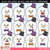Ghost Faces Emoji Emotions Halloween Clip Art