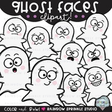 Ghost Faces {ghost clipart}
