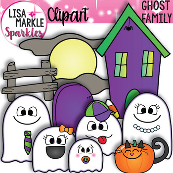 Ghost Family Halloween Clipart