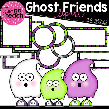 Ghost Friends and Frames Clipart