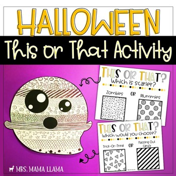 Ghost Halloween This or That Activity