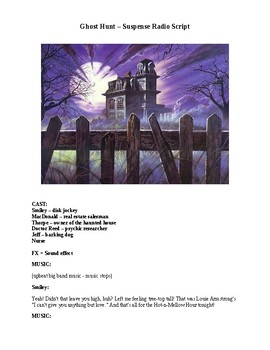 Drama - Ghost Hunt - Halloween Radio Script