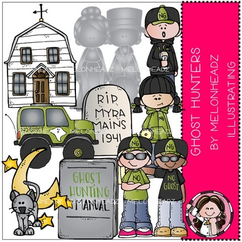 Ghost Hunting clip art - COMBO PACK- by Melonheadz