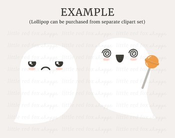 Ghost Kit Clipart; Halloween, DIY, Kawaii
