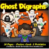 Halloween Phonics Activities - Ghost Letter Digraphs - kn,