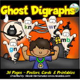 Halloween Phonics Activities - Ghost Letter Digraphs - kn,