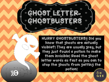 Ghost Letter Ghost Busters- Orton-Gillingham Aligned