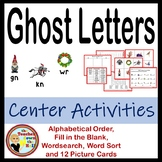 Ghost Letters - Center Activities (word sort, picture cards, & more)