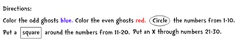 Ghost Math {Odds, Evens, Numbers}