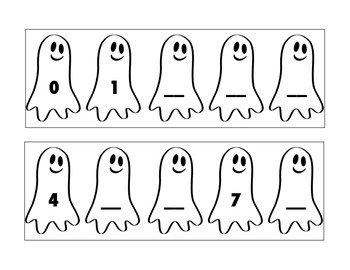 Ghost Missing Numbers Cards
