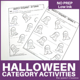 Ghost: Name Three and Naming Categories No Prep Activities