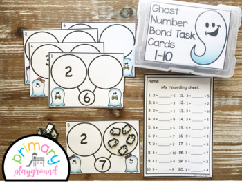 Ghost Number Bond Task Cards 1-10 Center