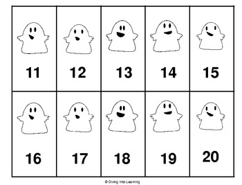 Ghost Numbers 1-20 Game