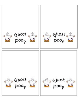 Ghost Poop Labels
