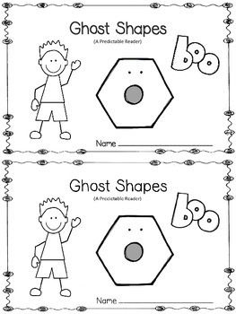 Ghost Shapes -A Predictable Reader and Posters (Bundled)