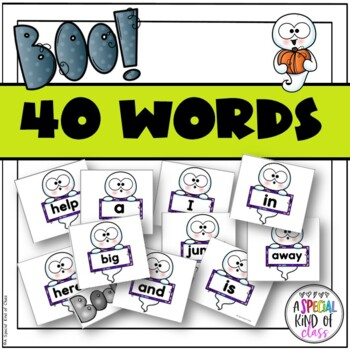 Ghost Sight Word Game Pre-Primer Dolch Word List