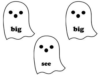 Ghost Sight Words Matching
