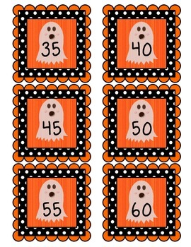 Ghost Skip Counting Cards - Counting by 5s FREEBIE