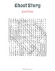 Ghost Story Word Search - Halloween Wordsearch