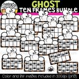 Ghost Ten Frames Clipart Bundle {Halloween Clipart}