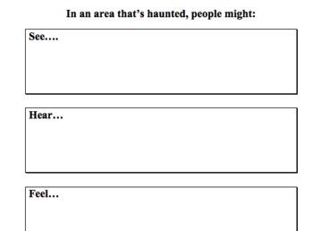 Ghost Tour Creative Writing Assignment - NO PREP
