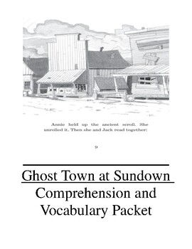 Ghost Town at Sundown Comprehension and Vocabulary Packet