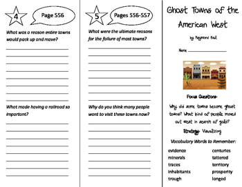 Ghost Towns of the American West Trifold - Imagine It 5th Grade Unit 5 Week 4