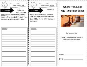 Ghost Towns of the American West Trifold Reading Street 5th Grade Unit 5 Week 5