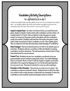 Ghost Towns of the American West Vocabulary Games & Activities Unit 5, Story 5