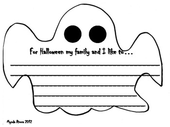 Ghost Writing Craftivity for Halloween (English & Spanish)