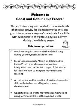 Ghost and Goblins Jive Freeze Lesson and Song