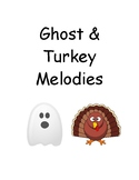 Ghost and Turkey Melodies- Vocal Warmup Ideas and Worksheet