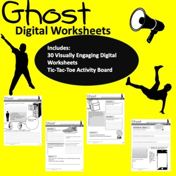 Ghost by Jason Reynolds Visually Engaging Chapter Worksheets