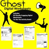 Ghost Visually Engaging Chapter Worksheets (PDF AND GOOGLE
